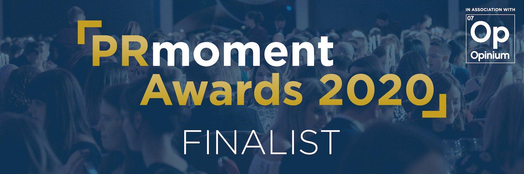 PRMoment20 Finalist Banner